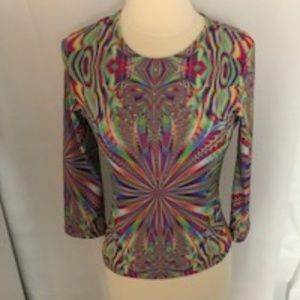 Nally&Milly Holographic look/psychedelic Top L